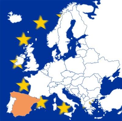 ESPAÑA en mapa