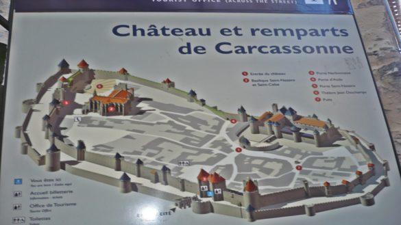 Mapa Carcasona